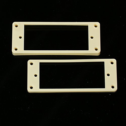 Mini Humbucker Pickup Mounting Rings for bridge and neck pckups ,Curved Bottom Cream (Set of 2) (Rings Pickup Humbucker Cream)