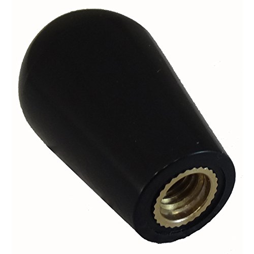 Beer Tap Faucet Handle Round Top Black With Brass Insert - European Look (1) Beer Tap Faucet Handle