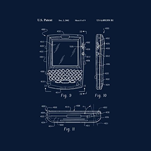 Blackberry Blueprint Patent Navy Women's Sweatshirt Blue xPx6rw