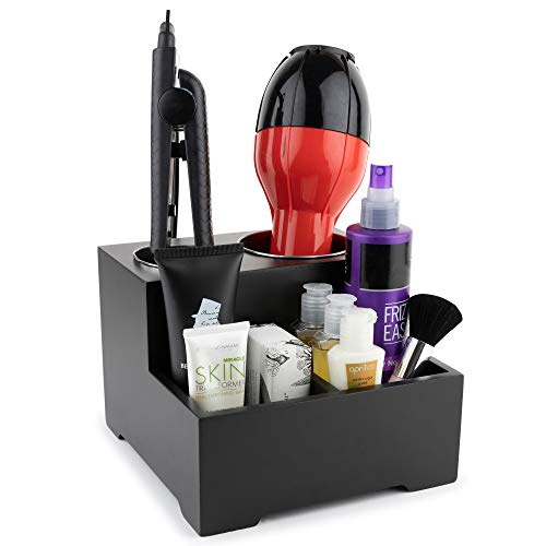 Stock Your Home Hair Care Organizer - Blow Dryer Holder - Hair Styling Station - Bathroom Vanity Countertop Organizer for Curling Iron