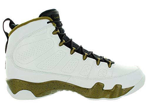Nike Jordan Air Jordan 9 Retro Blanco / Negro / Militia Green Basketball Shoe 10 Hombres Us