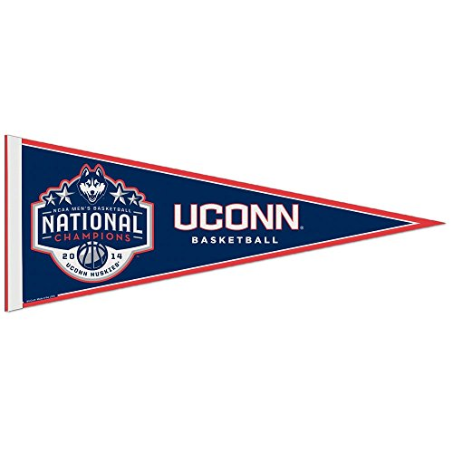 Connecticut Huskies Official NCAA 29 inch Long Pennant by Wincraft (Wiz Nose)
