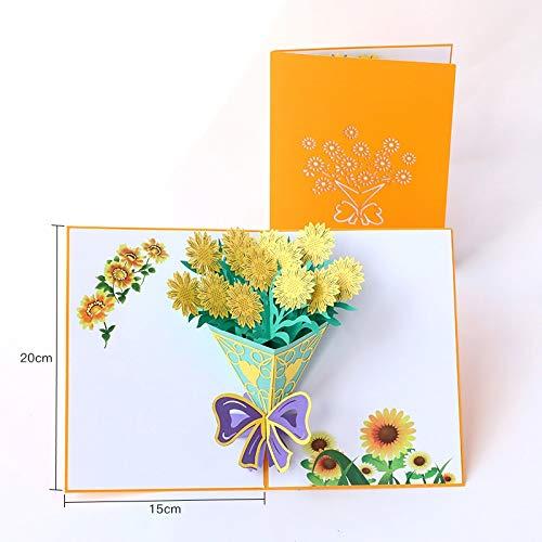 Paper Spiritz Thank You Christmas Postcard 3D Pop Up Laser Cut Wedding Birthday Greeting Gift Cards Thanksgiving Valentine's Day ()