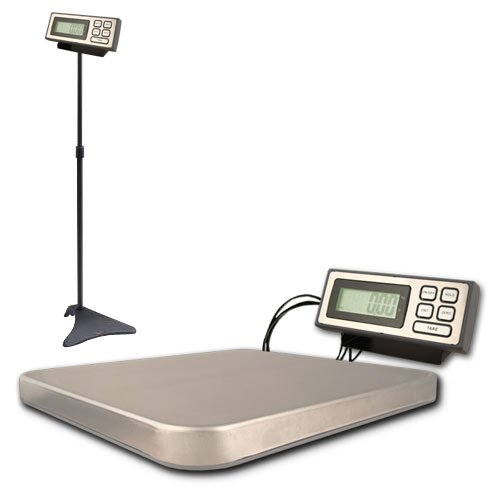"ZIEIS | 400 Lb. Capacity | Digital Platform Scale w/ remote LCD | Z400 | ZIEIS BigTop 16'' x 14'' Stainless Platform | Adjustable LCD Stand (27"" to 47"") 