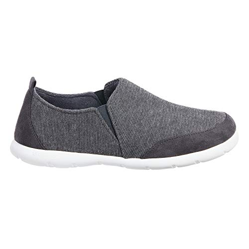 ISOTONER Zenz Men's Sport Knit Slip-On Walking Shoe, 13US, Mineral (Best Men's Walking Shoes With Arch Support)