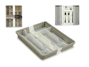 takestop® - Cubertería de plástico Ajustable de 5 a 7 plazas ...