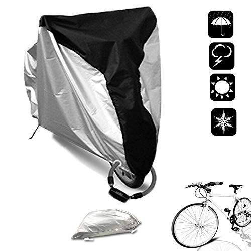 SAVICOS Bike Cover Outdoor Waterproof Bicycle Storage Cover Dust Sun Rain UV Wind Proof with Lock-Holes for Mountain Bike, Road Bike,Motorcycle