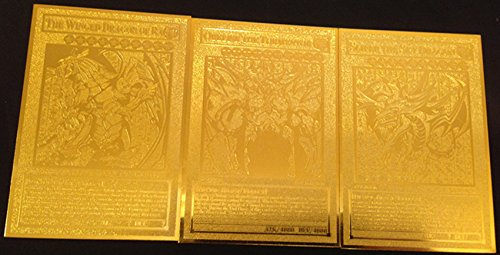 USA Seller Yugioh English Egyptian God Golden Metal Card Obelisk Slifer - Metals Usa Gold