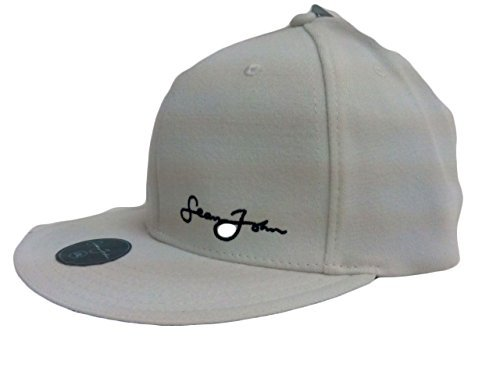 Sean John Men's Fitted Ball Cap Hat Cream M/L