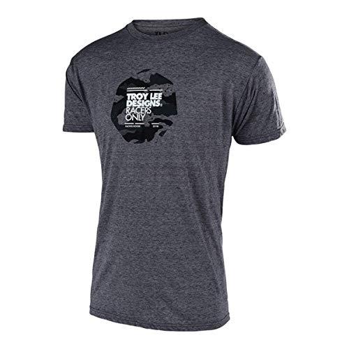 Camouflage Short Sleeve Jersey - Troy Lee Designs Flowline Tech Short-Sleeve Jersey - Men's Race Camo Salt Pepper, L