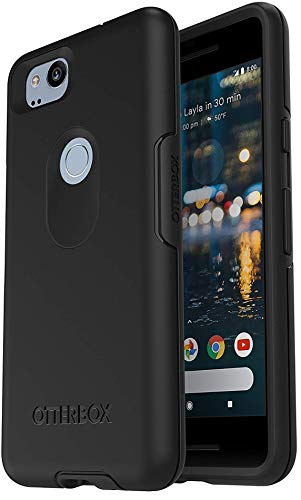 OtterBox Symmetry Series Case for Google Pixel 2 (NOT XL) Non-Retail Packaging - Black ()