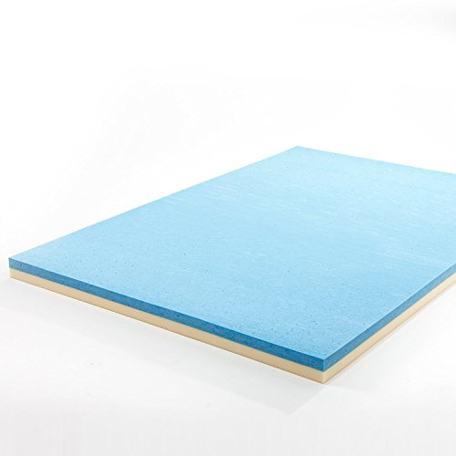 Zinus 4 Inch Gel Memory Foam Mattress Topper, (Green Memory Foam Toppers)