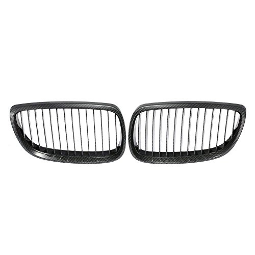 (E92 E93 Grill Carbon Fiber Black Front Kidney ABS Plastic Grill Grille For BMW 3 Sries BMW E92 E93 2 Doors 2007-2009)