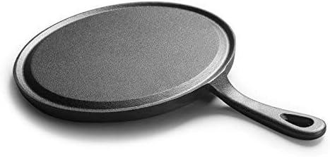 WDHWD Poêle à Frire 25 cm épaissie en Fonte crêpe poêle Oeuf Omelette crêpes poêles Maison antiadhésive Barbecue Steak Jambon Viande Grill Plaque de Cuisine ustensiles de Cuisine