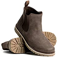 Blackwell Mens Chandler Vegan Leather Boot with Single Elastic Gore and Memory Foam Insoles