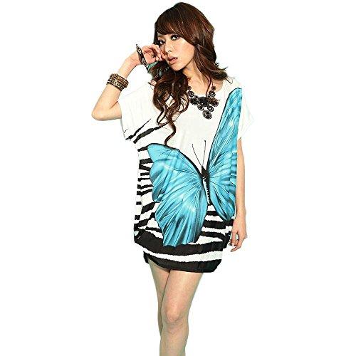 Silk Butterfly Print Dress - 3