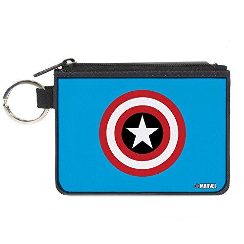 Buckle-Down Junior's Canvas Coin Purse Captain America, Multicolor, 4.25