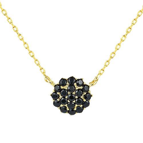 BIJOUX BOBBI Packaged With Gift Box Premium Quality Minimalism Fashion Trendy Necklaces - Gold/Jet - 1722GJ