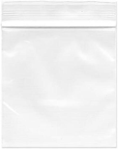 Bolsas de plástico reutilizables, 100 unidades, transparentes, con cremallera, 4 x 6 cm, bolsas de plástico pequeñas de polietileno para dulces y alimentos