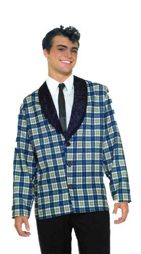 Forum Plaid Jacket Costume, Blue, Standard (up to 42) (Mens 50s Costumes)