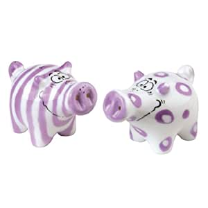 Walter and Winnie Salt and Pepper Shaker Pots