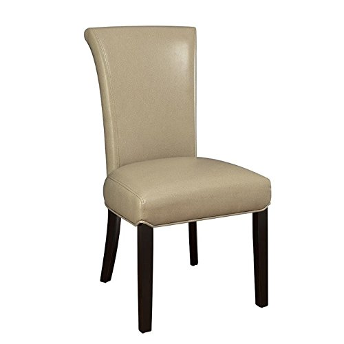 Newbridge Upholstered Curved Seat Back Side Chairs Taupe and Black (Set of 2) For Sale