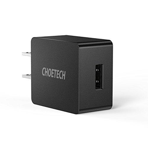 CHOETECH Cargador de Pared USB, UL Certificado 2.4A 12W Cargador de Celular para iPhone XR/XS MAX/ 8/8 Plus/ 7/7 Plus, iPad...