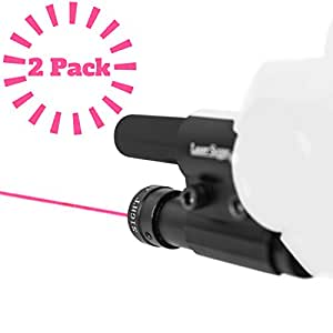 Laser Sight Aiming Scope Pointer 2 Pack | Bug & Fly Salt Gun Add-On Accessory | Fits 2.0, All Versions Of Insect Eradication Shotgun | Airsoft BB Pump Air Spring Assault Rifles