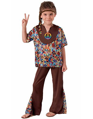 Hippie 60's Style 2-Piece Child Costume, Small -