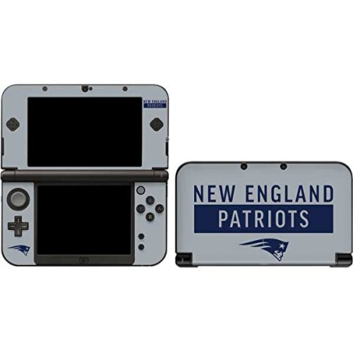 Skinit NFL New England Patriots 3DS XL 2015 Skin - New England Patriots Grey Performance Series Design - Ultra Thin, Lightweight Vinyl Decal Protection by Skinit
