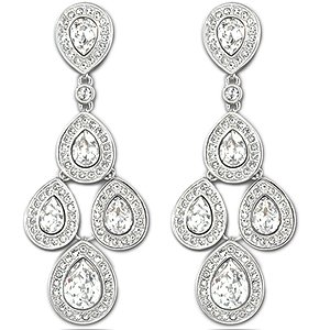 Amazon.com: Swarovski Sensation Chandelier Earrings: Dangle ...