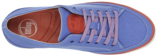 Fitflop Super T TM Canvas, Zapatillas Mujer Azul (Sporty Blue)