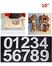 """Large Number Cake Tins Mold 0-9 Numbers Cake Pans for Fillings Layered Cake Wedding Birthday 10"""" (25cm)"""
