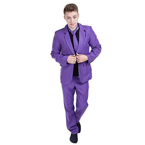 Charm Rainbow Men's Purple Suit Single Breasted for - Suit Trousers City