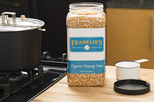 Franklin's Organic Popping Corn (7 lbs). Make Movie Theater Popcorn at Home. by Franklin's Gourmet Popcorn (Image #4)
