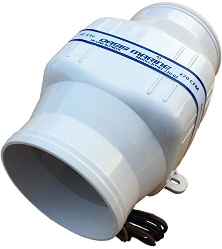 - Oasis Marine in-Line Bilge Boat Air Blower 4 inch 12V Exhaust FA (2 Year Warranty)