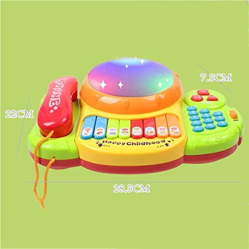 LIPENG-TOY Children's Telephone Music Pat Drums Songs Music Music Keyboard Player Drums Baby Early Education Educational Toys (Color : Yellow) by LIPENG-TOY (Image #1)