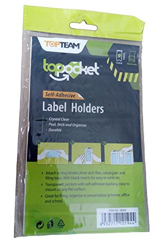 Self Adhesive Label Holder with Blank Insert, 2 sizes, 27 piece Bundle by WalkDisLife Top Pocket (Image #3)