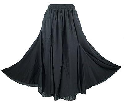 Beautybatik Cotton Boho Gypsy Long Maxi Godet Skirt Sz 1 X 2X 3X