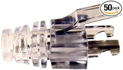 Platinum Tools EZ-RJ45 Cat6 Strain Relief Clear 50 Pack Clamshell