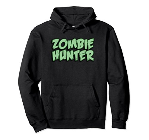 Price comparison product image Unisex Zombie Hunter Undead Cult Horror Logo Pull-Over Hoodie XL: Black