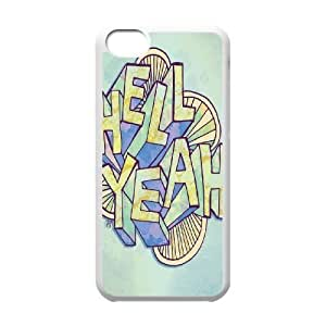 HELL YEAH Design Discount Personalized Hard Case Cover for iPhone 5C, HELL YEAH iPhone 5C Cover