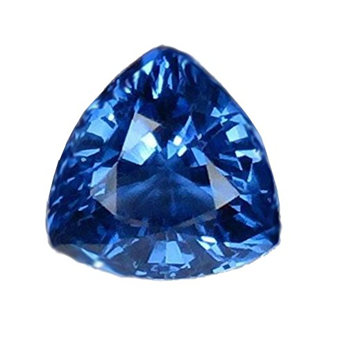 Blue Synthetic Sapphire Facet Gemstone Trillion 9mm x 6mm