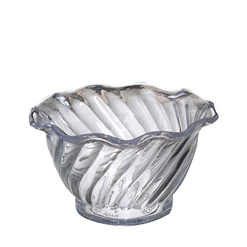 Dessert Merchandiser (Gessner Products Company 0345CL6Q Swirl Dessert Bowl Clear 5 oz (SET OF 36 PER CASE))