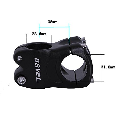 Bavel Aluminum Alloy Fixed 31.8mm Cycling Mountain Bike Short Handlebar Stem Riser ()
