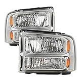 99 superduty headlights - Xtune HD-JH-FF25099-HA-C Ford Superduty Headlight