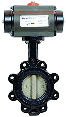 "Dixon B5121E200LL-BCC Lug Butterfly Valve, Cast Iron Body, EPDM Seat, R and P, AL, Double Acting, 2"" from Dixon"