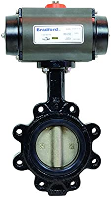 EPDM Seat 2 AL Cast Iron Body Double Acting Dixon B5121E200LL-BCC Lug Butterfly Valve R and P