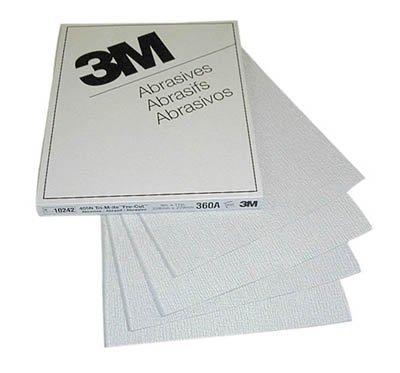 3M 426U 9'' x 11'' Silicon Carbide 320 Grit Sheet (100 Sheets)