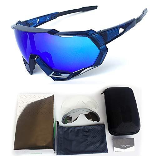 LWPCP Goggles, Cycling Glasses - Outdoor Sports Sunglasses - Men and Women Mountain Bike Motorcycle Goggles,6